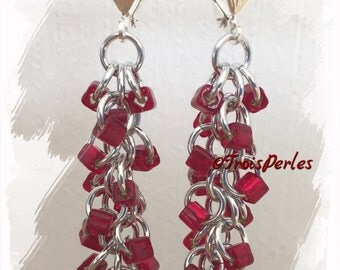 07 Chain Maille earrings - Chainmaille earrings