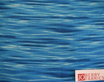Water Fabric from Landscape Medley by Elizabeth Studio, Quilt or Craft Fabric, Fabric by the Yard.