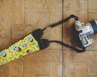 Spongebob Digital SLR Camera Strap Handmade