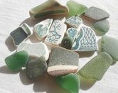 Items Similar To Mix N Match Sea Pottery And Sea Glass Lot
