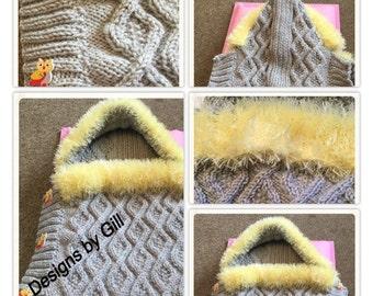 Fur My Angel Baby Cocoon Knitting Pattern