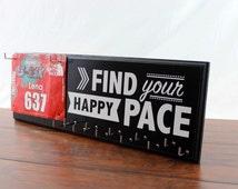 Running Medal Holder and Race Bib Hanger - running medals and race bibs hanger -  Find Your Happy Pace
