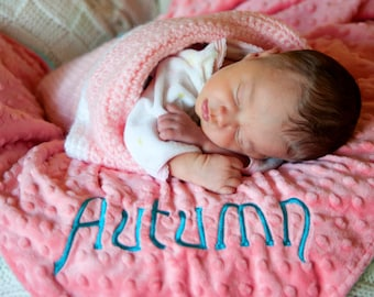 ADD ON - Embroidered Name - Add on to any minky blanket