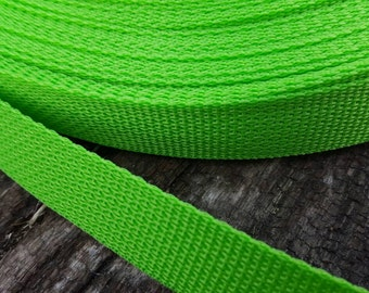 Lime Green Polypro one-inch Webbing