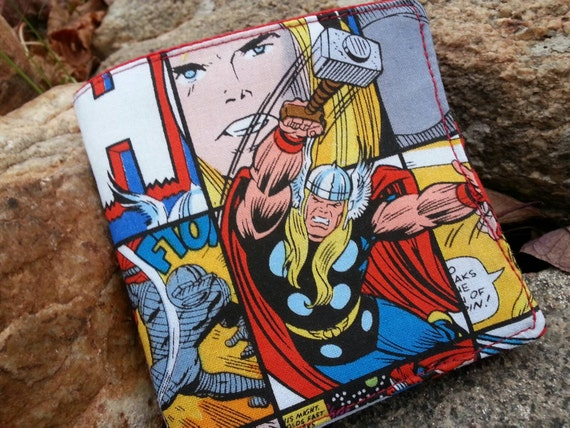 Boys Super Hero Wallet,  Comic Book Wallet