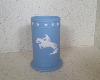 Wedgewood Collector Club Spill Vase Pony Express