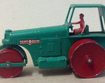 Matchbox King Size Aveling Barford Road Roller No 9 steam roller diecast lesney construction vehicle vintage toy England