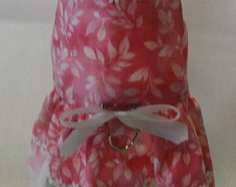 Dog Dresses, Dog Clothing, Pet Clothes, Dog Outfits, Dog Apparel, Coral Floral Dog Dress, Dog Harness, Small Dog Harness