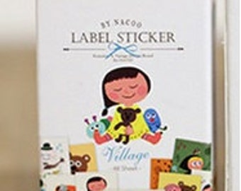 Village Label Stickers - Total 48  Stickers