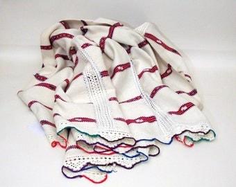Antique Hemp Cover  Duvet  Throw Tablecloth  Bedspread  Hemp linen  Hand Loomed