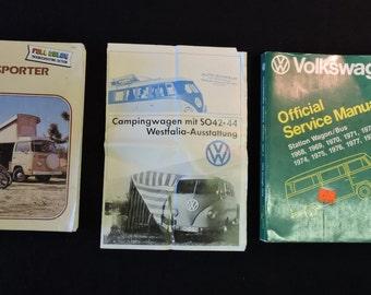Volkswagon Transporter Van, Bus, Westfalia, Manuals, Brochure 1966