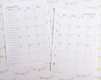 A6 MO2P Calendar
