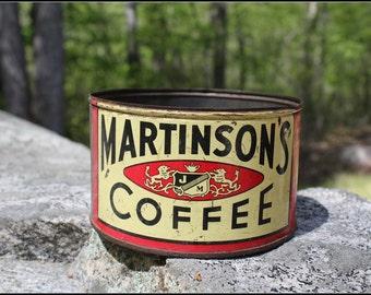 Vintage Martinsons Coffee Tin 1 lb.