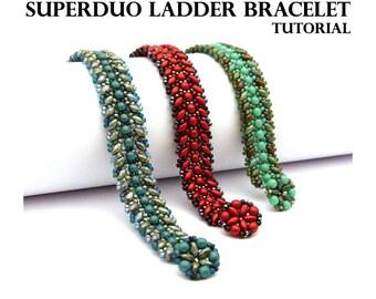 Superduo Ladder Bracelet - PDF beading pattern - Instant Download