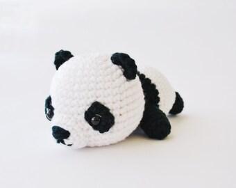 Panda v.2, crochet amigurumi plushie, mochillery handmade