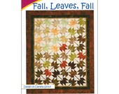 """Pattern """"Fall, Leaves, Fall"""" Quilt Pattern by Cozy Quilt Designs (1033) Paper Pattern Instructions"""