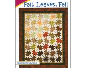 "Pattern ""Fall, Leaves, Fall"" Quilt Pattern by Cozy Quilt Designs (1033) Paper Pattern Instructions"