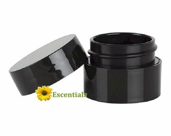 Black Lip Balm Pots - 30 Pack