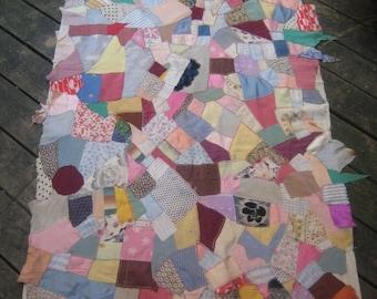 Unfinishedf Antique Crazy Quilt