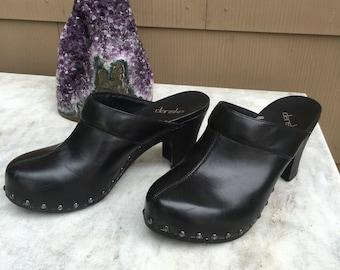 Black Dansko High Heel Clogs