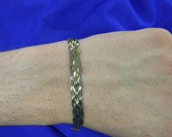 "Sterling Silver 925 Incredible Weave Pattern Bracelet 7"" ET 6105"