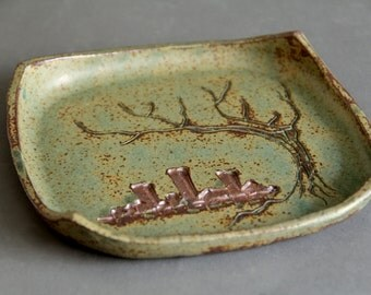 Square patterned tree & city dish