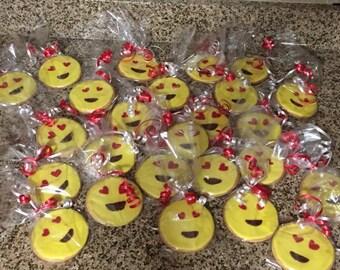 Emoji Heart Smile Cookies - One Dozen Individually Wrapped