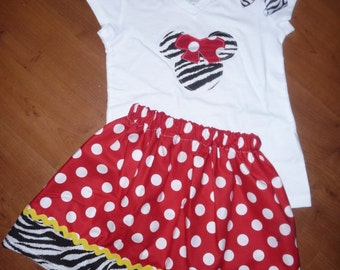 Zebra Minnie Mouse outfit!!!!