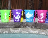 AMANDA- Personalized Beach Buckets with Shovels