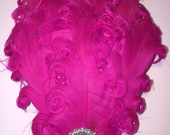 Feather Pad w/ Bling Headband or Clip