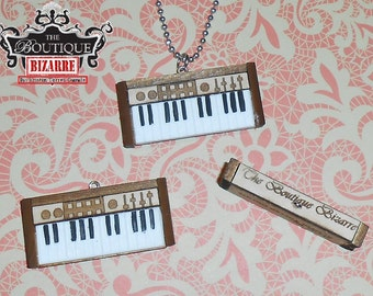 The Boutique Bizarre Keyboard Piano Necklace Pendant Jewelry, Musical jewelry, piano pendant, keyboard, musicians, DJs,