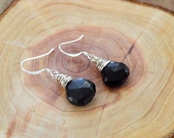 Black Onyx Gemstone Earrings- Gemstone Earrings