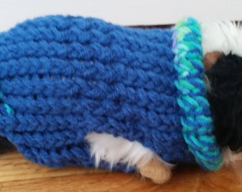Hand Knit Guinea Pig Sweater in by ChiliDogsPetSweaters on Etsy