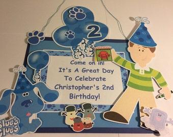 Blue's Clues Door Sign