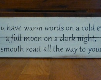 Irish blessing pallet sign
