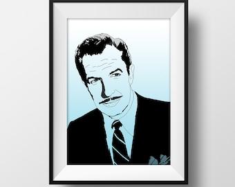 SUPER SALE*** Vincent Price Poster - Graphic Illustration A4 - Art Print