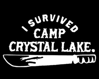 Friday the 13th Vinyl Decal I survived Camp Crystal Lake