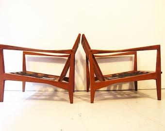 Mid Century Modern Svante Skogh Lounge Chairs, Made in Sweden set of 2