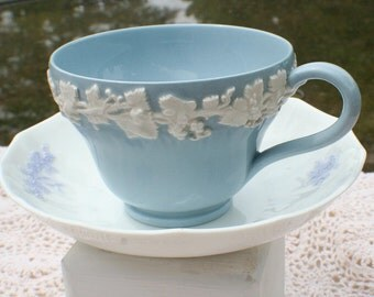 Wedgwood Cup with Saucer w/Grape Motif