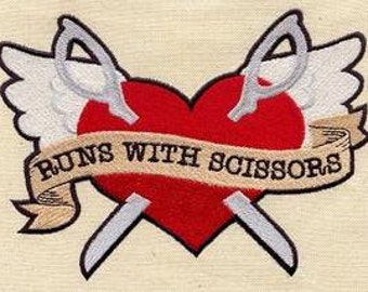 Runs with Scissors Angel Heart Scissors Dice Bag or Pouch