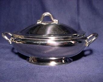 Gravy Sauce Boat Bowl w/ Lid Vintage Stainless Steel