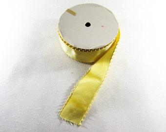Golden Yellow Picot Ribbon