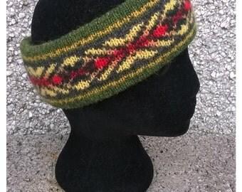 Fair isle headband,Shetland headband,Hand made headband,ideal for gift,.