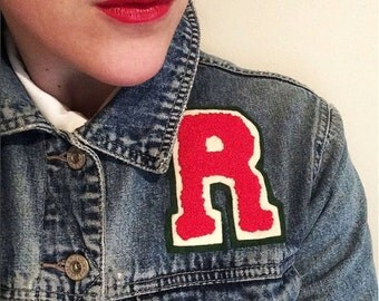 Hand Embroidered VARSITY LETTERS