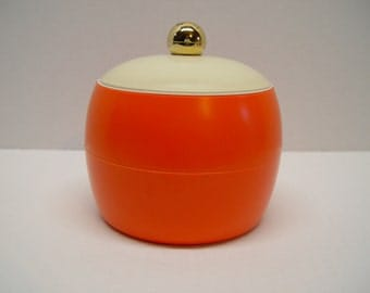 Vintage GITSware Ice Bucket, Mid Century Home, Bright Orange