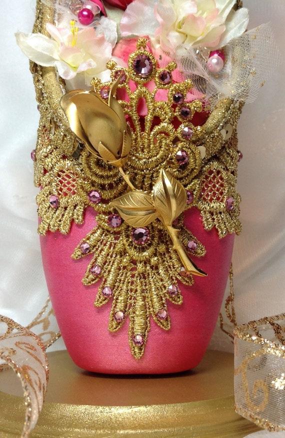 Nutcracker waltz of the flowers centerpiece dark pink and