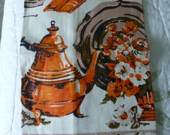"Vintage ""Retro"" Linen Kitchen Towel"