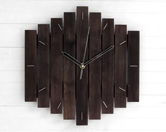Wall Clock, Minimalist Decor, Oversized Clock, Steampunk Wall Clock, Industrial Clock, Rustic Chic Wall Clock, Antique Decor, BIG ROMB,