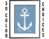"""My Anchor Holds within the Veil - 30 COLOR CHOICES - 8""""x10"""" Printable Art"""