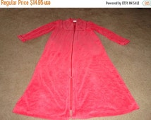 50% OFF Size Small zipper robe pink 40 inch bust 47 inch length